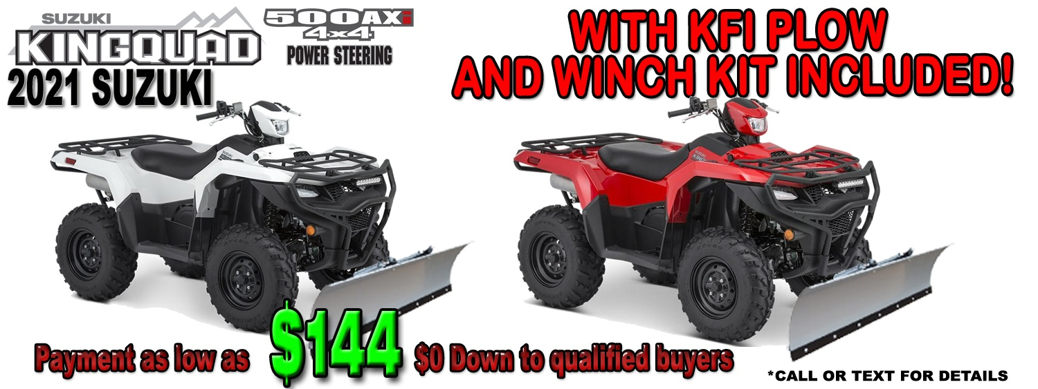 KingQuad 500 With Plow!